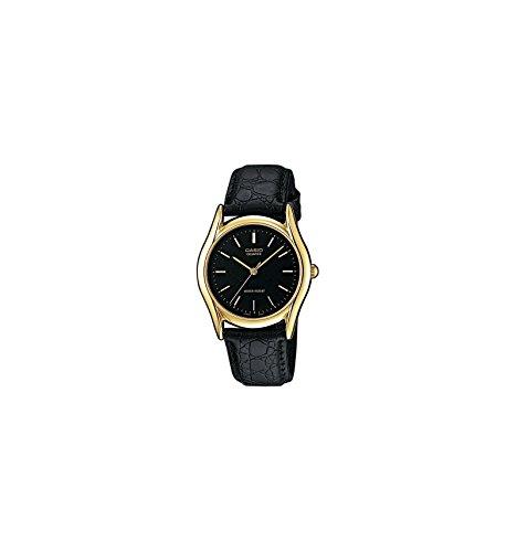 Casio MTP-1154Q-1AEF - Reloj analógico de Cuarzo para Hombre con Correa de Piel, Color Negro