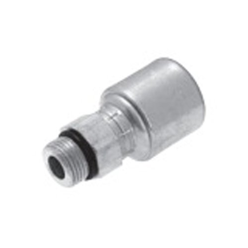 """Price comparison product image Gates Fluid Power 7347-02146-5 Hose Fitting,  12GS16MB 3 / 4"""" Bore To 1.5 / 16"""" Global Spiral Male Sae Straight 0"""