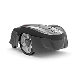 Husqvarna Automower 115H Robotic Lawn Mower 2 The 115H Automower available with a DIY installation kit Smart home meets smart lawn - manage your lawn with the touch of a button and maintain a yard your neighbor's will envy; the Connect@Home app allows you to set and adjust your Automower's cutting schedule with ease (Bluetooth connectivity works up to 100ft) Guided by hidden boundary wires, Automower knows how to smartly maneuver around your yard and when to return to the charging station for a battery recharge