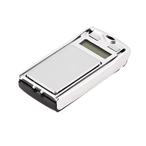 CHUTD Schaal, Schalen Mini Digitale Pocket Schaal 200g 0,01 g Precisie g/DWT/ct Gewicht Meting voor Keuken Sieraden Apotheek Tariegewicht