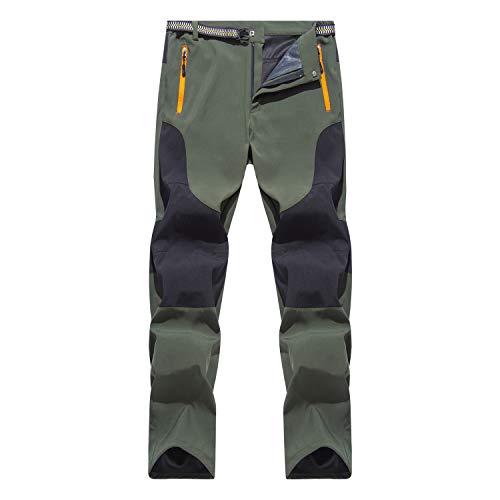 Freiesoldaten de los Hombres Exterior Pantalones de Senderismo Hidrófugo Ligero Respirable Pantalones para Caminar con Cinturón