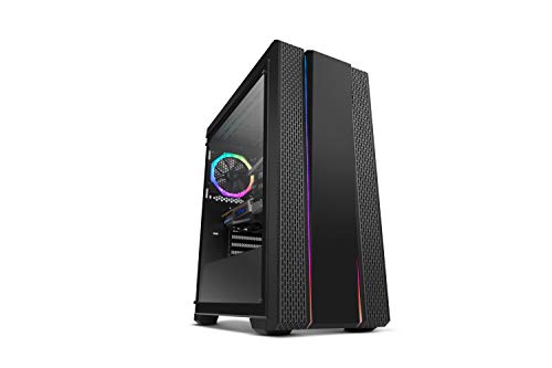 Nox Hummer Fusion -NXHUMMERFSN- Caja LED ARGB Rainbow ATX-Micro ATX-ITX, lateral cristal templado, 1 ventilador de 120mm ARGB preinstalado, espacio hasta 6 ventiladores, USB 3.0, color negro