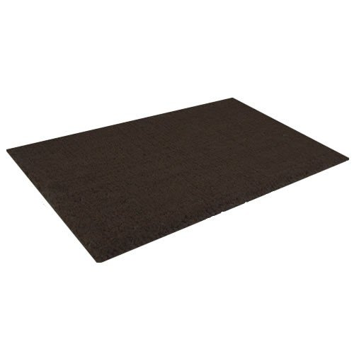 Kokos-deurmat - zwart - 80x120 cm