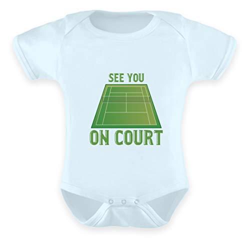 Schuhboutique Doris Finke UG (haftungsbeschränkt) Ich Sehe Dich auf dem Platz Tennis - Baby Body -6-12 Monate-Baby Blau