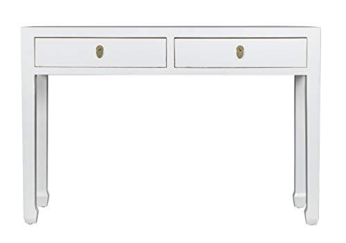 Fine Asianliving Chinesische Konsolentisch Orientalische Möbel Beistelltisch Wandtisch Dekotisch Konsole Telefontisch Tischchen Sofatisch aus Holz Kaffeetisch Couchtisch Sidetable 120 x 80 x 35cm