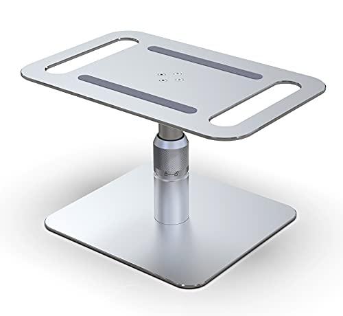 Niubuy Supporto per Monitor Regolabile in Altezza, Supporto da Tavolo ergonomico per Computer in Alluminio, Girevole a 360°, Adatto per TV, iMac, dell, HP, Samsung e Altri Monitor (Argento)