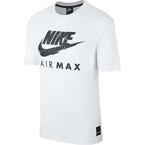 Nike Air MAX - Camiseta de Manga Corta para Hombre Blanco Blanco M