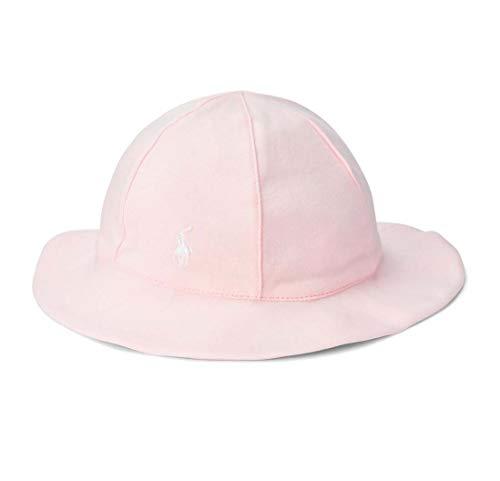 Ralph Lauren Baby Girls Cotton Interlock Sun Hat (Delicate Pink(3005), 12-24 Months)