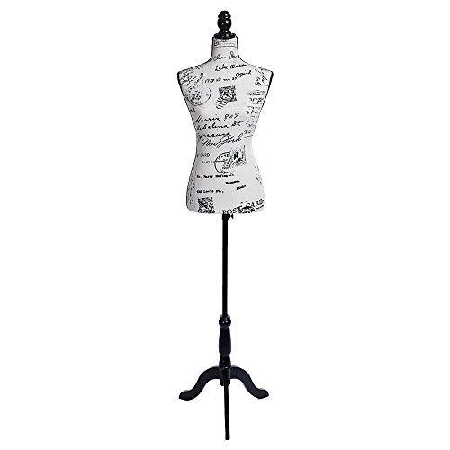 Female Mannequin Torso Dress Letter Pattern Form Display w/Tripod Stand Design