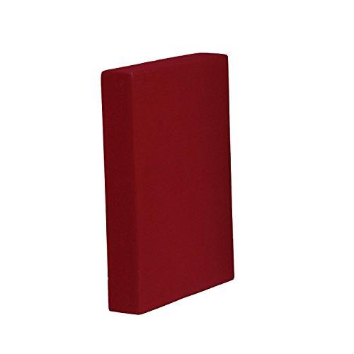 Schulterstandplatte Asana Block (Platte) bordeaux-rot, Yoga Zubehör, Hilfsmittel für Schulterstand, 305 x 205 x 50 mm
