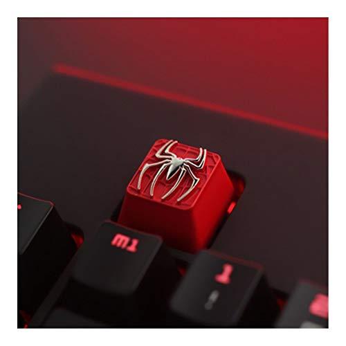 YEZIO KeyCaps per tastiere Tastiera 1pc di Zinco in Lega di Alluminio Chiave cap Meccanica keycap for Hearthstone Eva Superman R4 Altezza stereoscopico Relief Universale