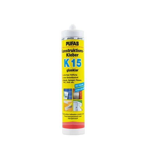 Pufas Konstruktions-Kleber K 15 Montagekleber Spiegelkleber Kraftkleber 310ml