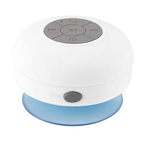 QAZW Altavoz Bluetooth Ducha-Altavoz Portati Inalambrico con Ventosa, Mini Radio estéreo de Manos Libres con Potente Sonido Fuerte para Fiestas, Piscina, Playa, Viajes,White