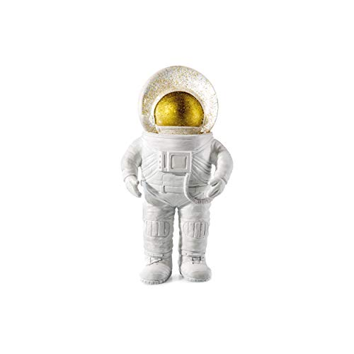 Donkey Products Summerglobe The Astronaut, Schneekugel, Glitzerkugel, Dekoration, Glas, Polyresin, Weiß, Golden, 17 cm, 330441