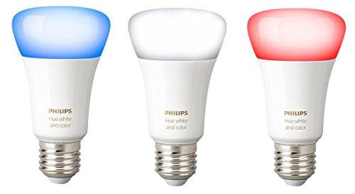 Philips Hue Lot de 3 Ampoules connectées White and Color E27 -...