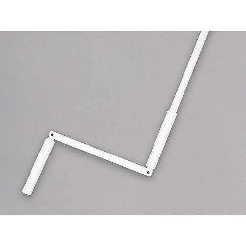 VOLET-MOUSTIQUAIRE Manivelle complète avec Tige hexagonale 10 mm en Acier laqué Blanc