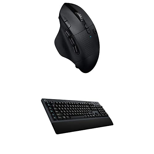Logitech G604 Lightspeed Wireless Gaming Mouse Bundle with Logitech G613Lightspeed Wireless Mechanical Gaming Keyboard, Multihost 2.4 GHz + Blutooth Connectivity