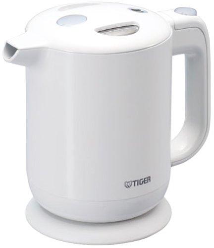 飲みたいときにサッと沸く! TIGER 電気ケトル 0.8L(フッ素加工内容器)ホワイト PFY-A080-WA