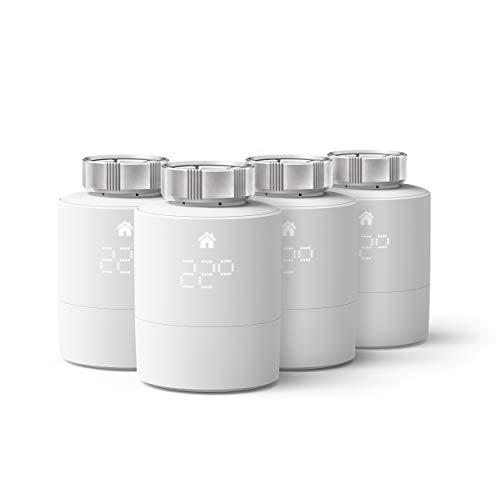 tado° Tête Thermostatique Intelligente - Pack Quattro, accessoire pour le contrôle multi-pièces, contrôle de chauffage intelligent, Installez par vous-même