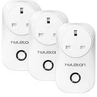 Smart Plug, WiFi Plug Socket Compatible with Alexa, Echo, Google Home and IFTTT, Free APP Remote Control Your Home Device at Anywhere and Anytime, No Hub Required- hyleton Outlet with Timer and Countdown Function (Alexa Plugs)