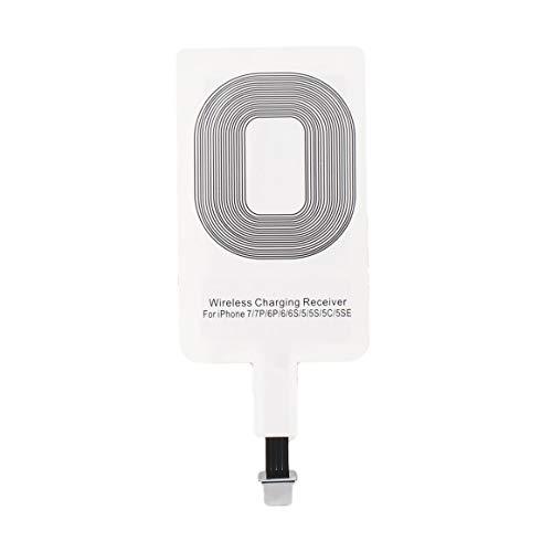 Funnyrunstore para iPhone Receptor de Cargador inalámbrico portátil Qi Adaptador de Carga Ligera Bobina de Almohadilla para Sistema iPhone