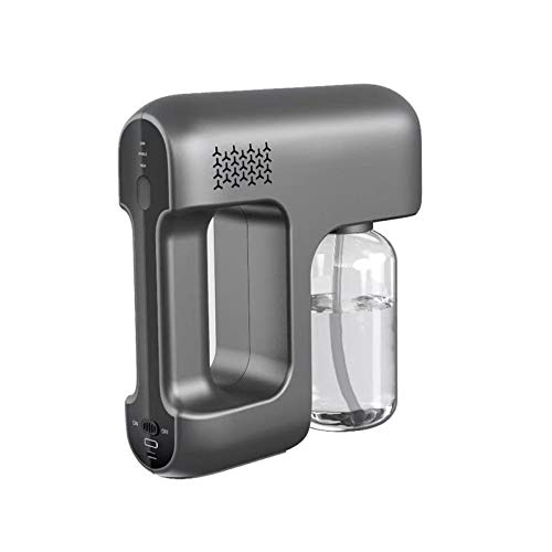 ZYC Nebelmaschine, 12V Rauchmaschine Stage Fogger 400 ml Nano-Desinfektionsdampfpistole Wassernebelsprühgerät für Innenräume DJ Disco Music KTV,Schwarz