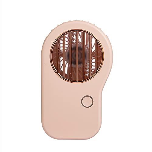 Mini Ventilador De Mano, Ventilador de Collar de 3 velocidades de conmutación, Compatible para Viajes de Oficina en casa al Aire Libre, Carga USB, batería incorporada 800mAh (Color : Pink)