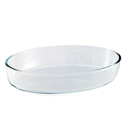 BCSA PL10 teglia Ovale in Vetro borosilicato 35 x 24 cm