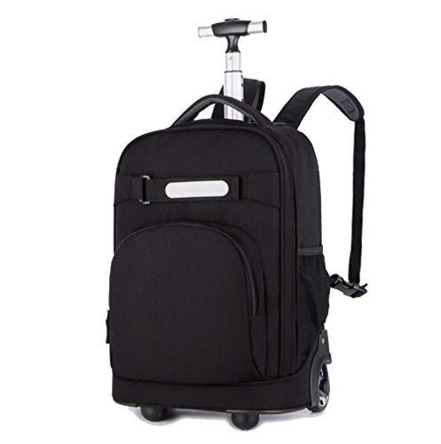 ZZLHHD Wheeled Trolley Backpack,Telescopic tie bag, waterproof backpack-black,Kids Trolley Backpack