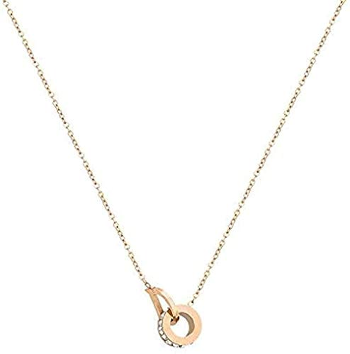 Collar collar con letras collar femenino collar con colgante de hueso de cadena de cuello de clavícula