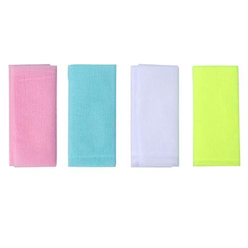 Lurrose 4 stücke Nylon japanische schönheit Haut Bad waschlappen Handtuch Peeling Nylon Badetuch