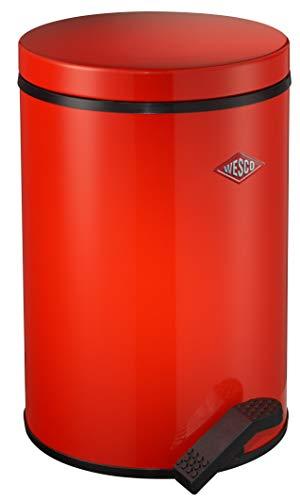Wesco 117 212-02 Tretabfallsammler Softer, 13 Liter, rot