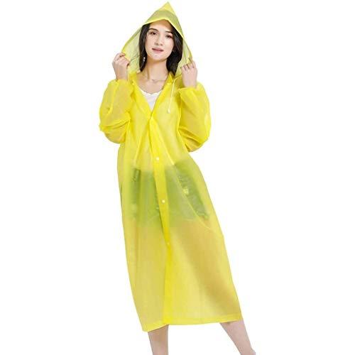 ZFFSC Regenmäntel, Regenponcho für Erwachsene – EVA wiederverwendbarer Regenmantel mit Kapuze, tragbare wasserdichte Regenkleidung für Männer Frauen Camping, Wandern, Outdoor-Regenmantel