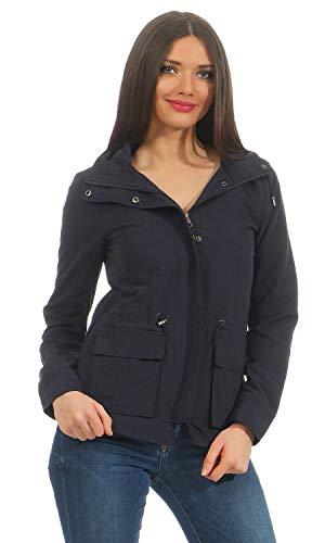 ONLY Damen onlSTARLIGHT Spring Parka CC OTW Jacke, Blau (Night Sky), 42 (Herstellergröße: XL)