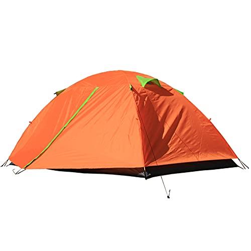 ZFRXIGN Carpa para Acampar Familiar Carpa para Acampar Al Aire Libre Carpa De Doble Poste De Aluminio Doble Carpa para Acampar Al Aire Libre Carpa para Parejas A Prueba De Lluvia(Color:Naranja)