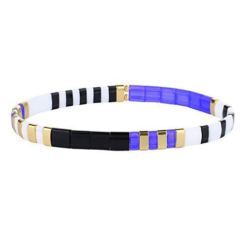 KANYEE Bracelets élastique Bracelets D'amitié Fait Main Bracelets Perlés Tila Bracelets Breloques De Mode pour Femme – 9M
