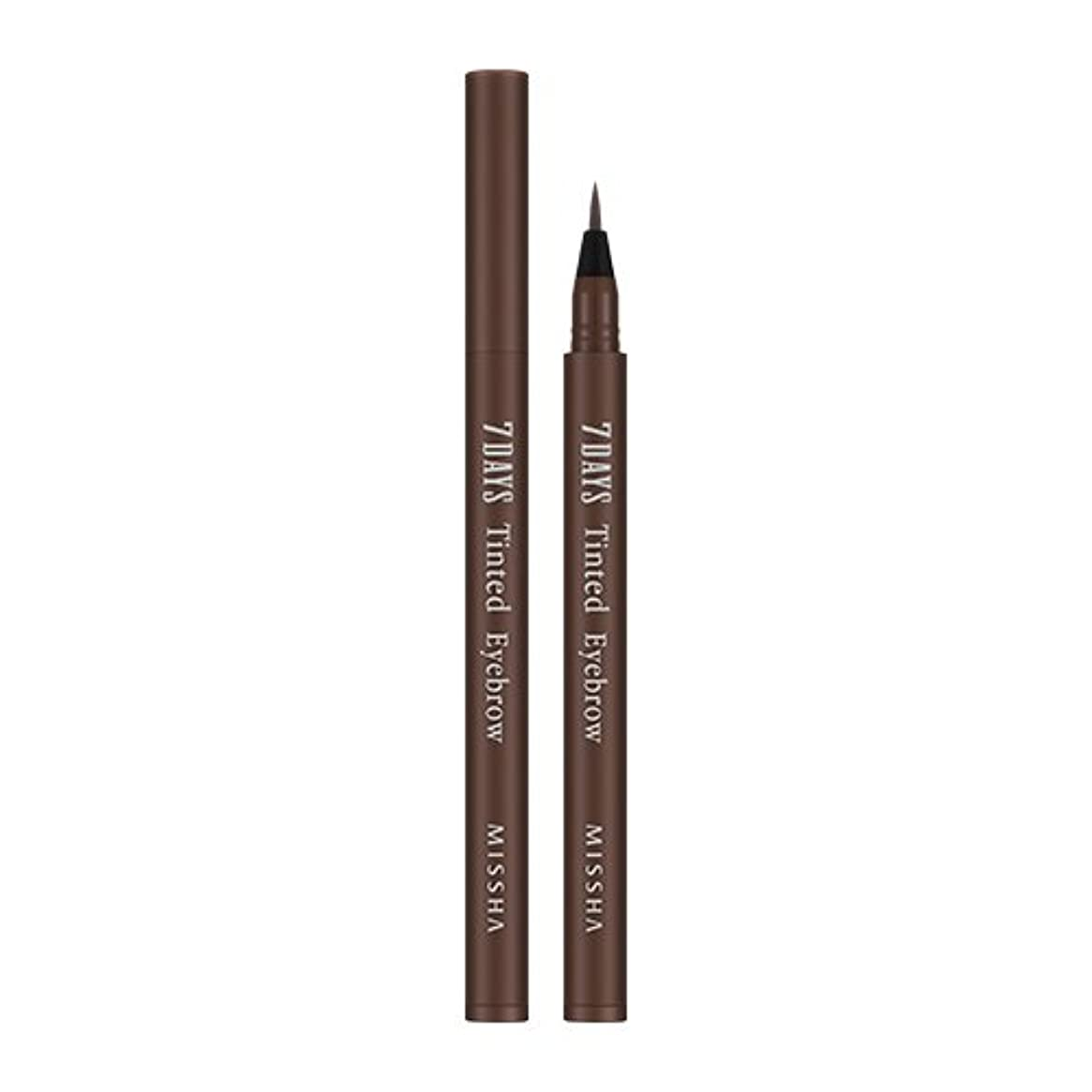 文言ロゴアイドルMISSHA Seven Days Tinted Eye Brow 0.8ml (#02 Sinopia Brown)/ミシャ セブンデイズ ティンテッド アイブロウ 0.8ml (#02 Sinopia Brown)