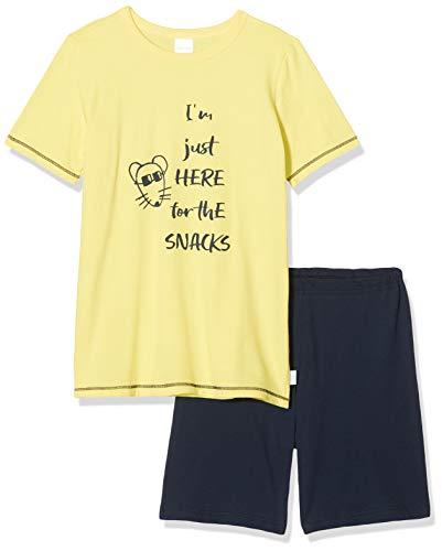 Schiesser Jungen Yellow Mouse Kn Kurz Zweiteiliger Schlafanzug, Gelb (gelb 600), (Herstellergröße:128)