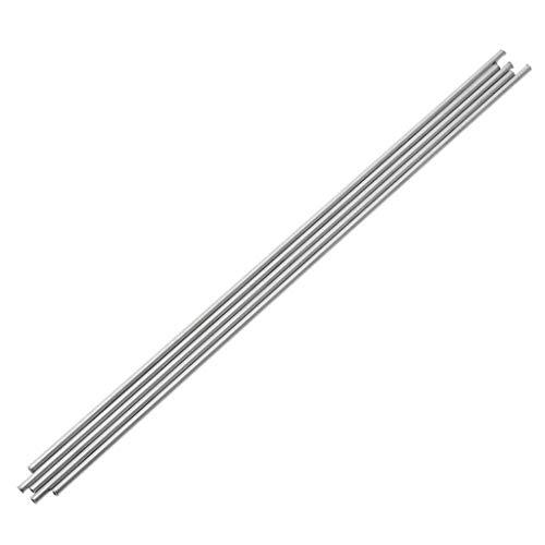 5pcs 304 Edelstahl Kapillarrohr Silber Tubes 3mm OD 2 Mm ID 250mm Länge, Mit Oxidationsbeständigkeit Hochtemperaturbeständig