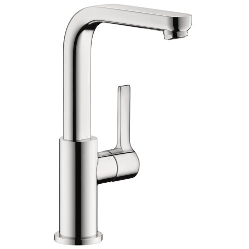 hansgrohe Metris S Modern Timeless Easy Install 1-Handle 1 10-inch Tall Bathroom Sink Faucet in Chrome, 31161001