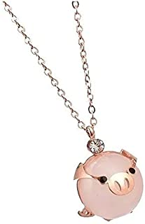 Click Tech Collar Puerquito Dije Cerdito Kawaii Mini Pig, Parejas, El Regalo Perfecto, Moda, Acero Inoxidable con Recubrim...