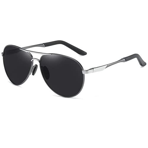 Heren lente been gepolariseerde zonnebril metalen grote frame retro spiegel rijden reizen zonnebril