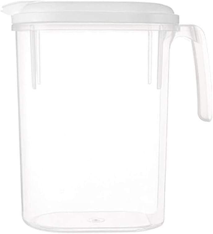mcbeitrty 1 jarra de agua de 1,8 l para beber jarra de agua fría con tapa, jarra de agua fría y caliente, botella de té helado de alta capacidad
