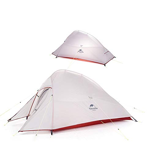 Naturehike Cloud-up 2 Ultralight Camping Tent for 2 Persons - Waterproof Double Layer Backpacking Tent 4 Seasons(gray)