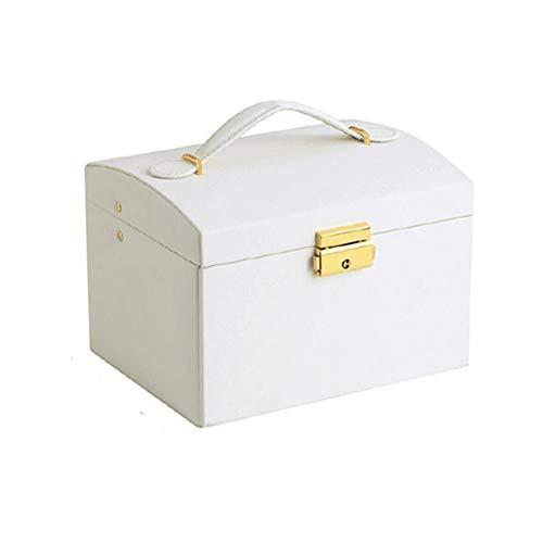 BAWAQAF Jewelry Box,3 Layers Jewelry Organizer Box,Large Capacity Display Holder,Double Drawer Jewelry Storage Box,Ladies Jewelry Box