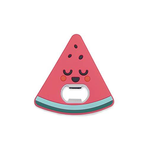 Balvi Abrebotellas MrWonderful Watermelon Color Rojo Superficie Suave al Tacto con Forma de sandía con imán Plástico/Metal