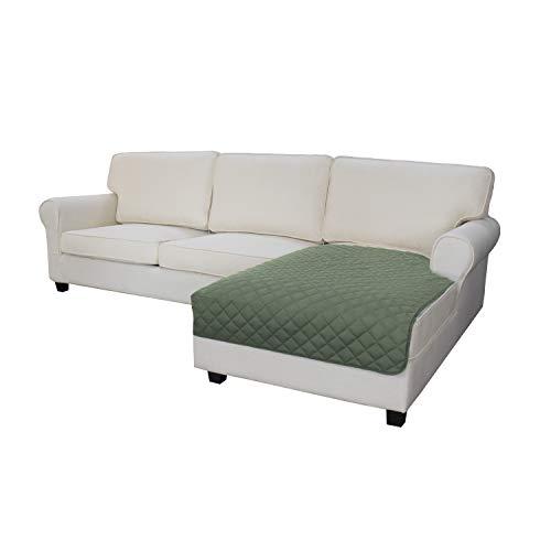 Funda para sofá de fácil uso en forma de L para sofá seccional, funda para sofá o tumbona, reversible, funda protectora de muebles, para mascotas, niños, perros y gatos