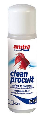 Amtra Clean Procult Lebend-Impfkulturen Aktive Filterbakterien Gesundes Aquarium Algen Wasser Fische Grundreinigung 50ml