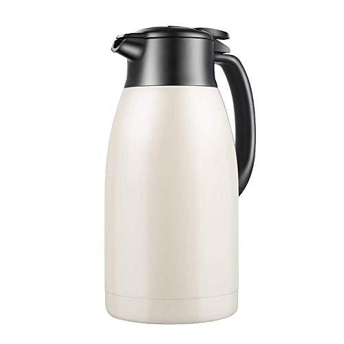 Thermos Thermos bouilloire bouilloire en acier inoxydable gros thermos ménage capacité thermos bouteille d'eau bouillante kyman (Color : White)