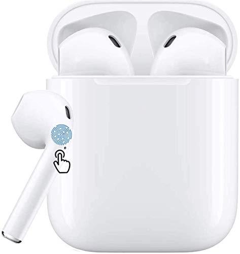Auricular Bluetooth 5.0, Auricular inalámbrico, micrófono y Caja de Carga incorporados, reducción del Ruido estéreo 3D HD, para Auriculares Apple iPhone Android Samsung Huawei